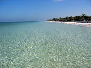 Beautiful Marco Island beach on the Gulf of Mexico.