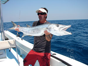 Monster barracuda caught off the coast of Naples.