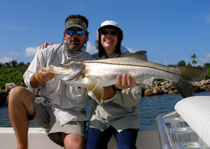 Here's Capt. Will with a client's snook.