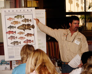 Here's Capt. Will doing a seminar on grouper fishing.