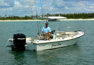 The Grand Slam, a spacious 25-Foot Custom Built Privateer Renegade center console boat.
